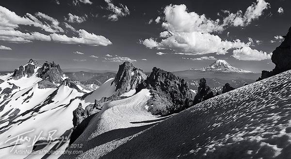 Mount Adams from the Goat Rocks, Ives Peak and Gilbert Peak, Washington