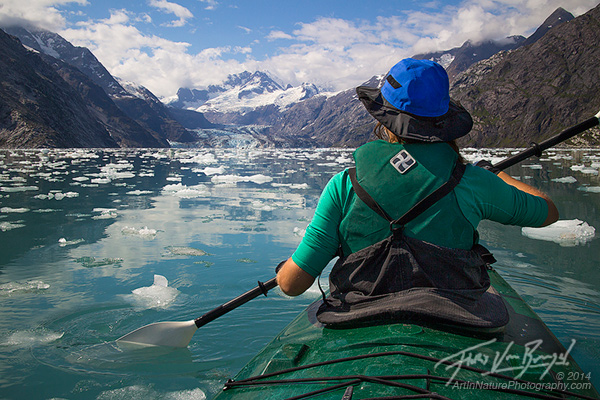 Kayaking Johns Hopkins Inlet, Glacier Bay National Park, Alaska