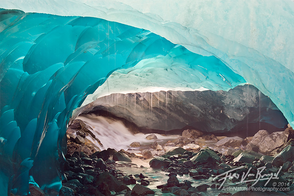 Blue Glacial Ice, Mendenhall Glacier, Alaska
