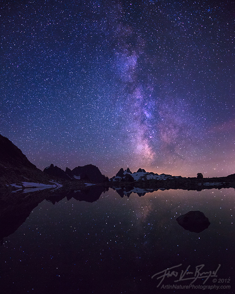 Milky Way over the Cascades, Alpine Lakes Wilderness, Washington