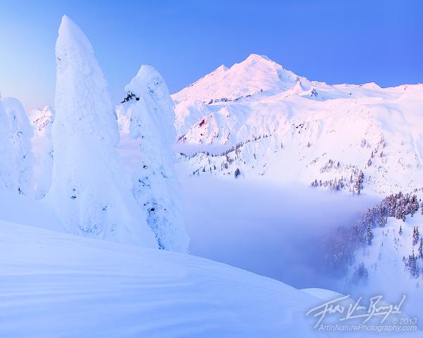 Mount Baker from Artist Point, Snowy Winter, Washington
