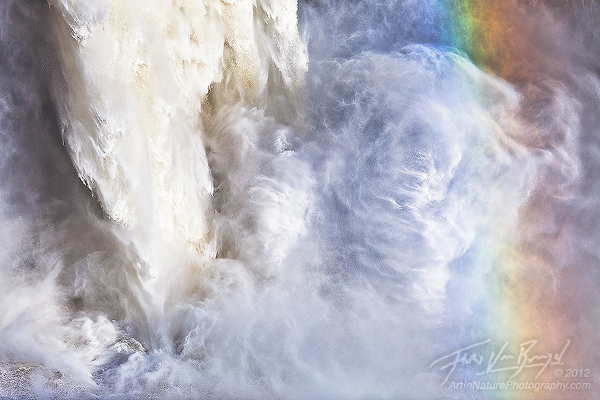 Palouse Falls Rainbow, Washington, flood, waterfall