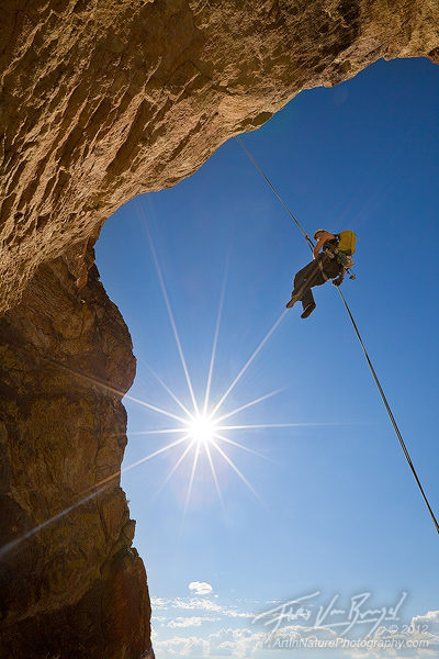 Rappelling, Smith Rock, Oregon