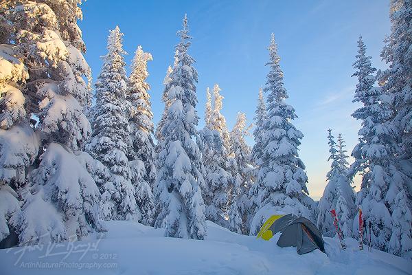 Winter Tent Camping, Hurricane Ridge, Olympic National Park, photo