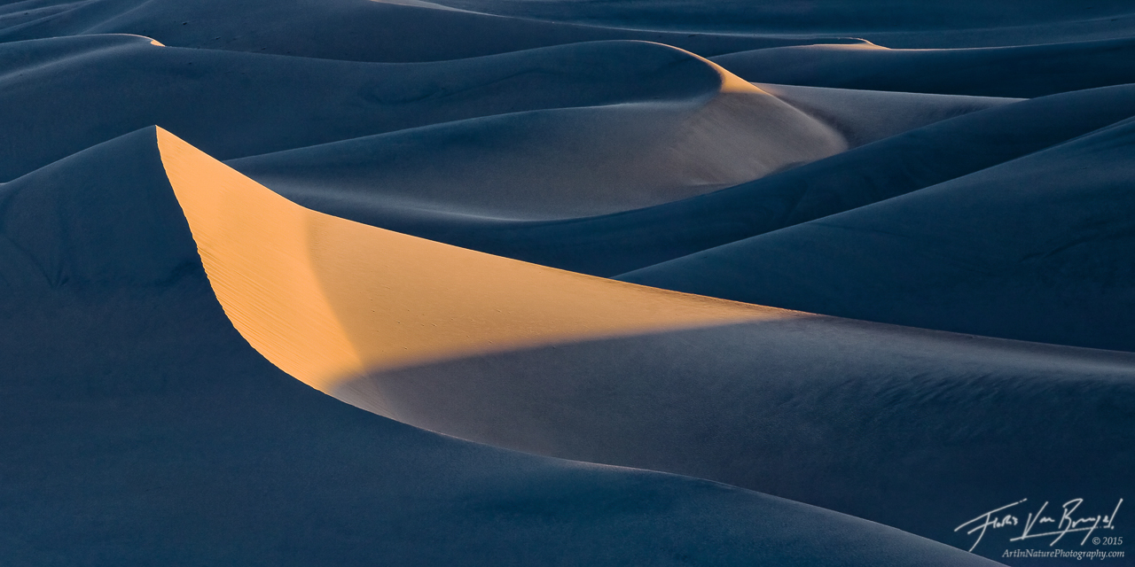 Mesquite Sand Dunes, Death Valley National Park, California, first light, peak, photo
