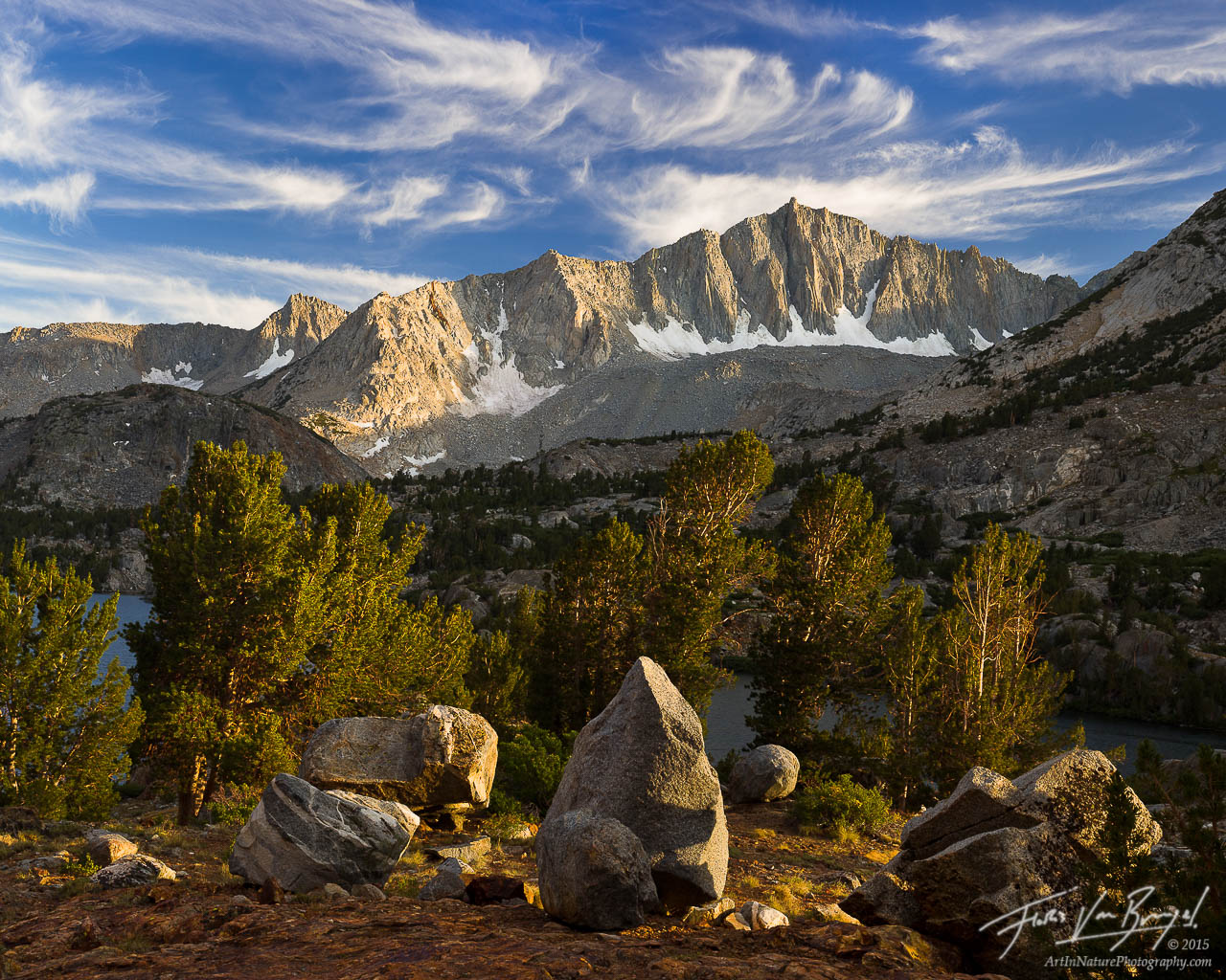 Mount Goode at Sunset in the Sierra, Kings Canyon National Park, California, golden sierra,, photo