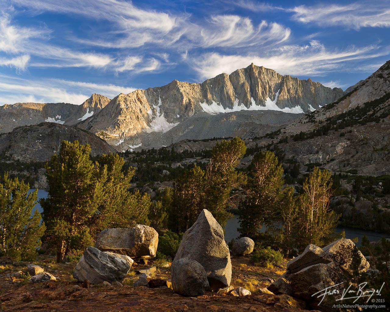 Mount Goode at Sunset in the Sierra, Kings Canyon National Park, California, golden sierra,, photo