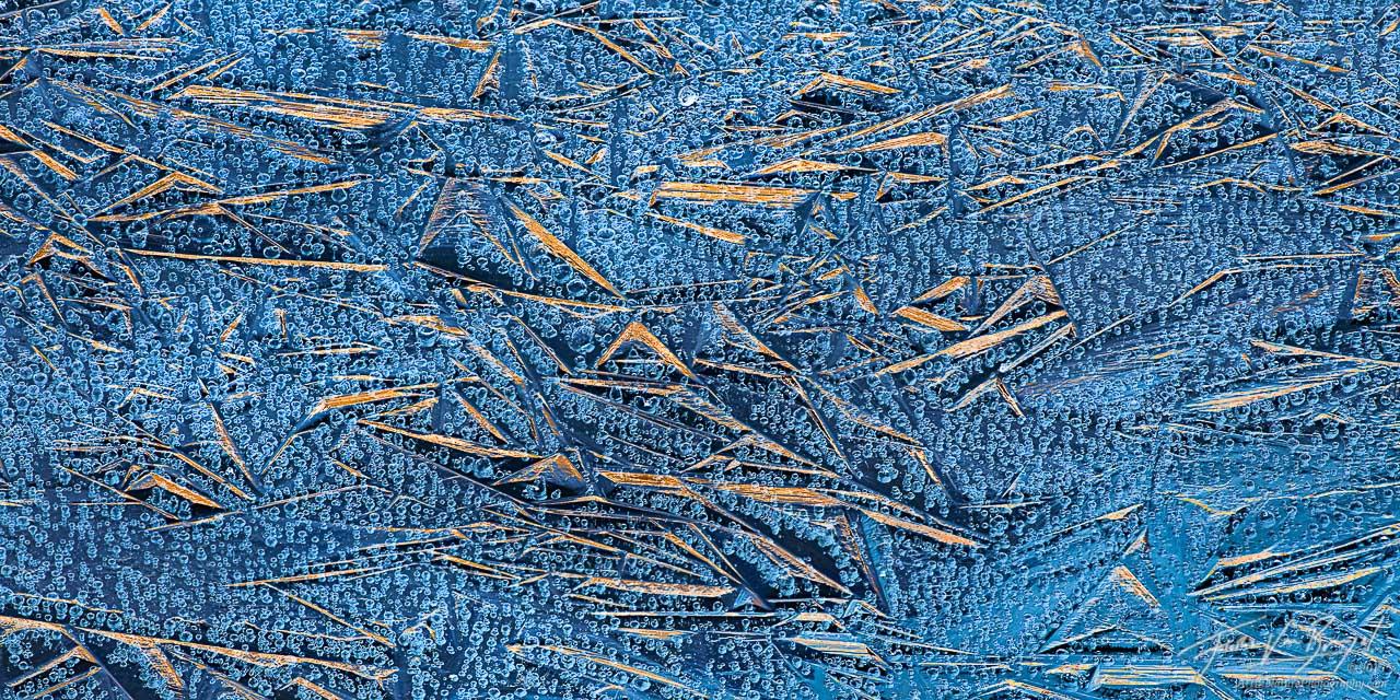 Ice Crystals in Frozen Lake, Sierra Nevada, California, ice flambee, minaret lake,, photo