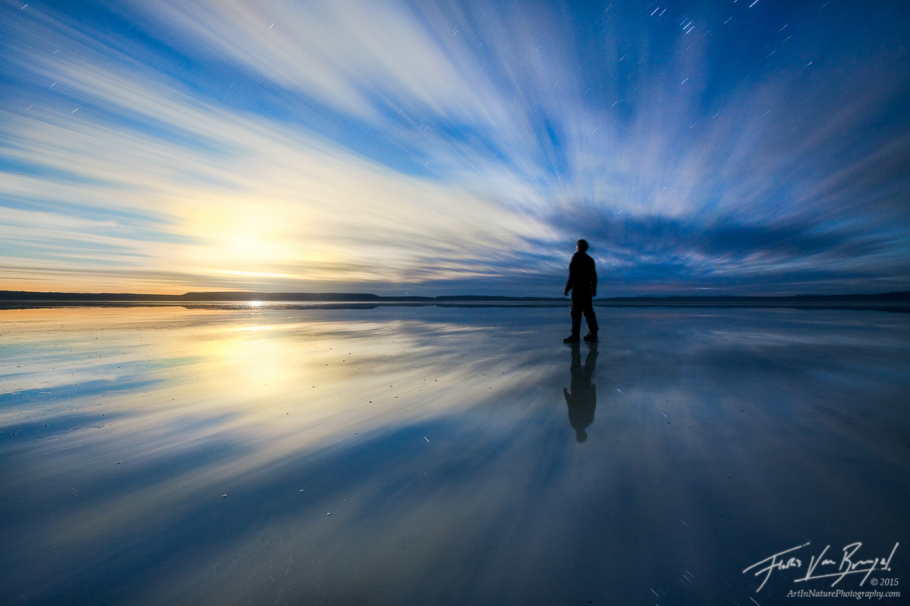 Self Portrait at Moonrise, Alvord Desert, Oregon, photo