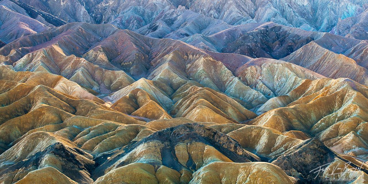 Twenty Mule Team Canyon Badlands, Death Valley National Park, California, beautiful badlands, photo