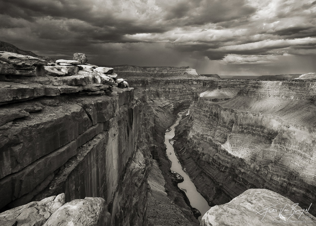 Black and White Monsoon at Toroweap, Grand Canyon National Park, Arizona, grand monsoon, tuweep, photo