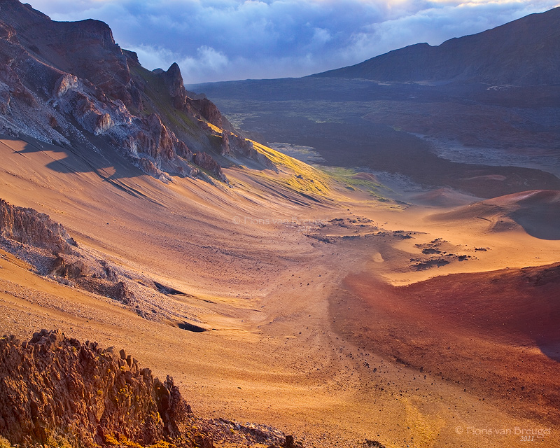 Sunrise on Haleakala, Maui, Hawaii, sliding sands, photo