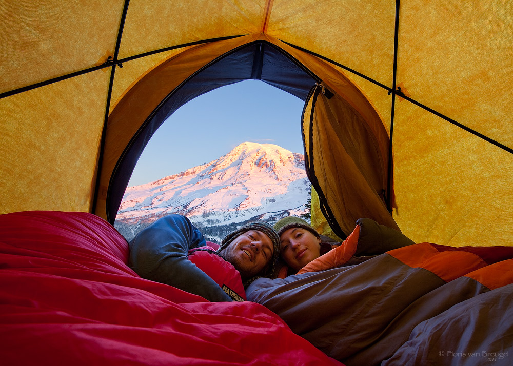 Winter Camping, Tatoosh Range, Mount Rainier, photo