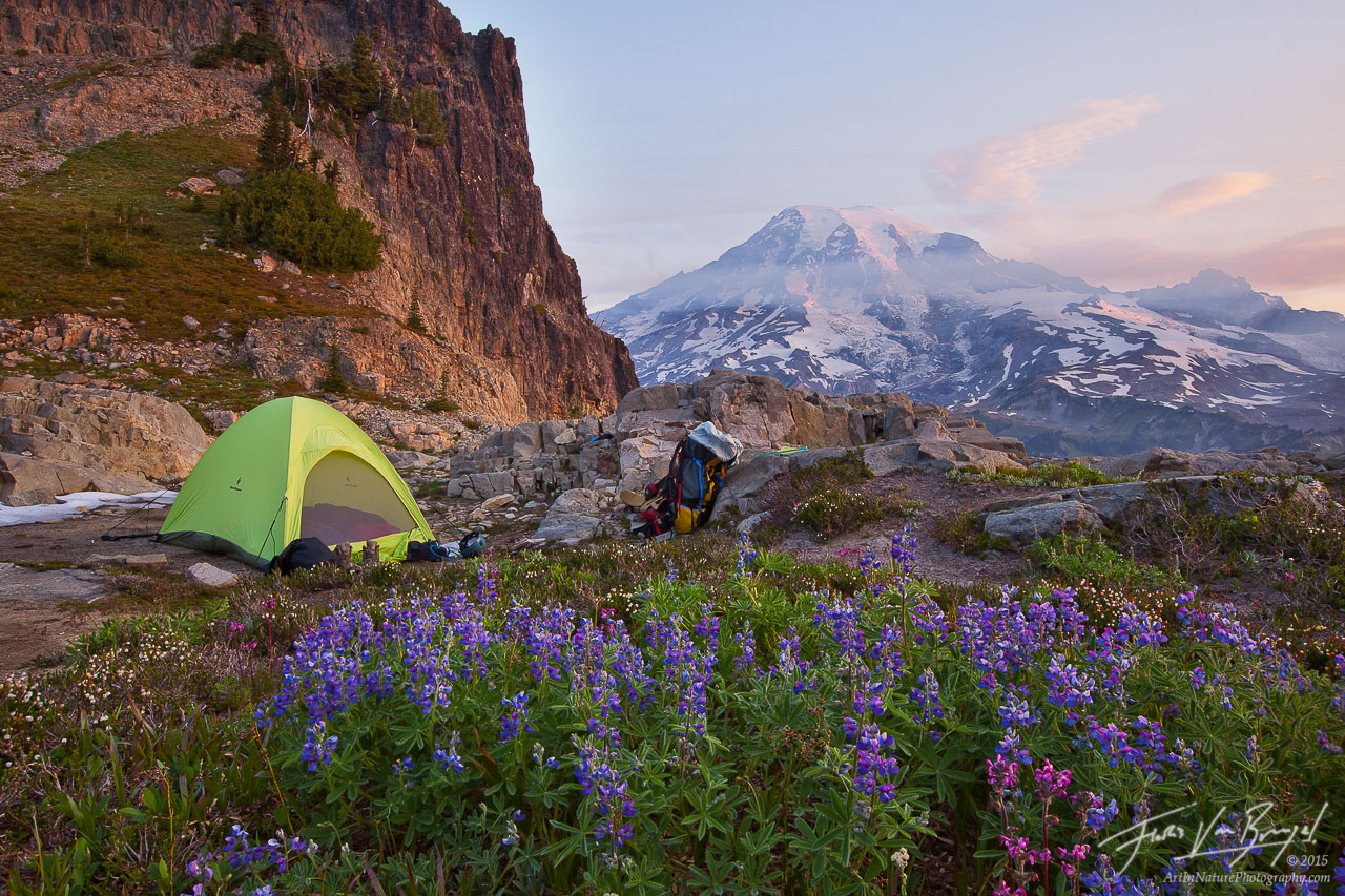 Backcountry Camping, Mt Rainier National Park, Washington, photo