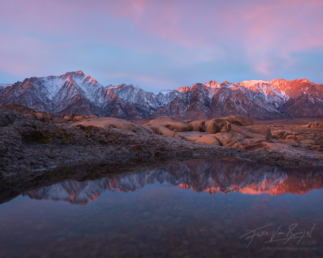Owens Valley, Water, Lone Pine Peak, photo