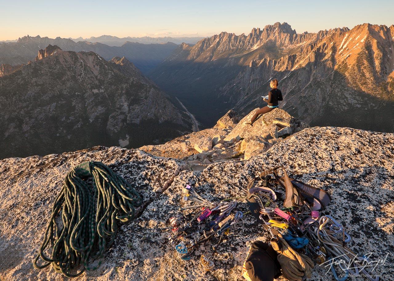 Alpine Climbing, Liberty Bell, Washington Cascades, photo
