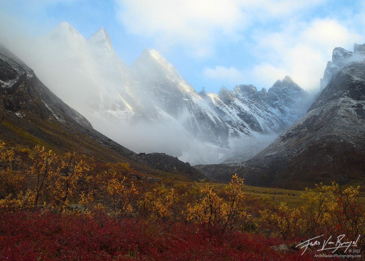 Snow Capped Arrigetch Peaks, Brooks Range, Alaska, photo