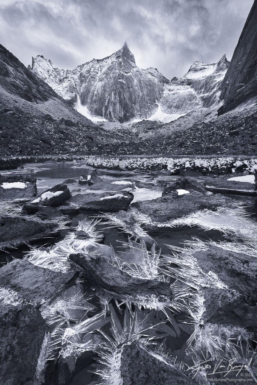 Arrigetch Peaks Ice, Brooks Range, Alaska, photo