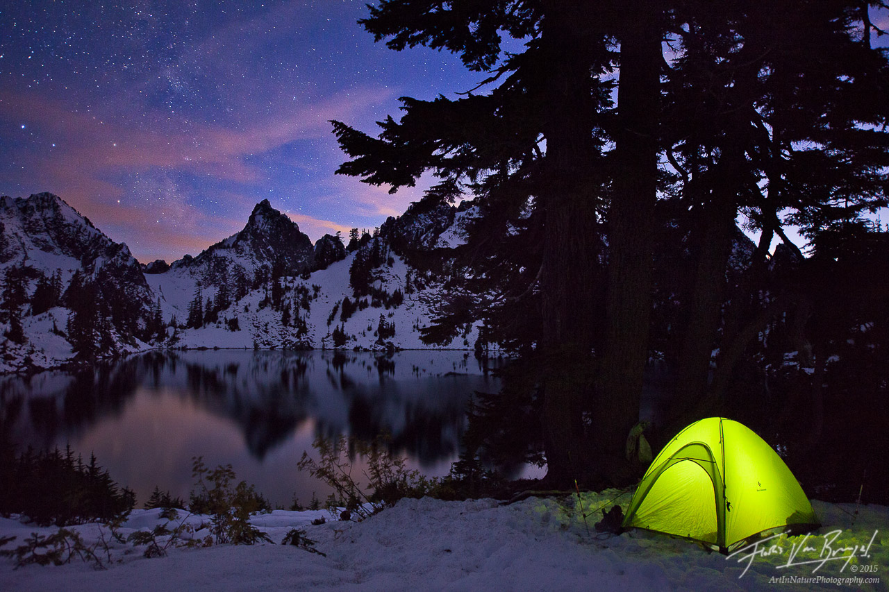 Cascades, Camping under the Stars, Winter, photo