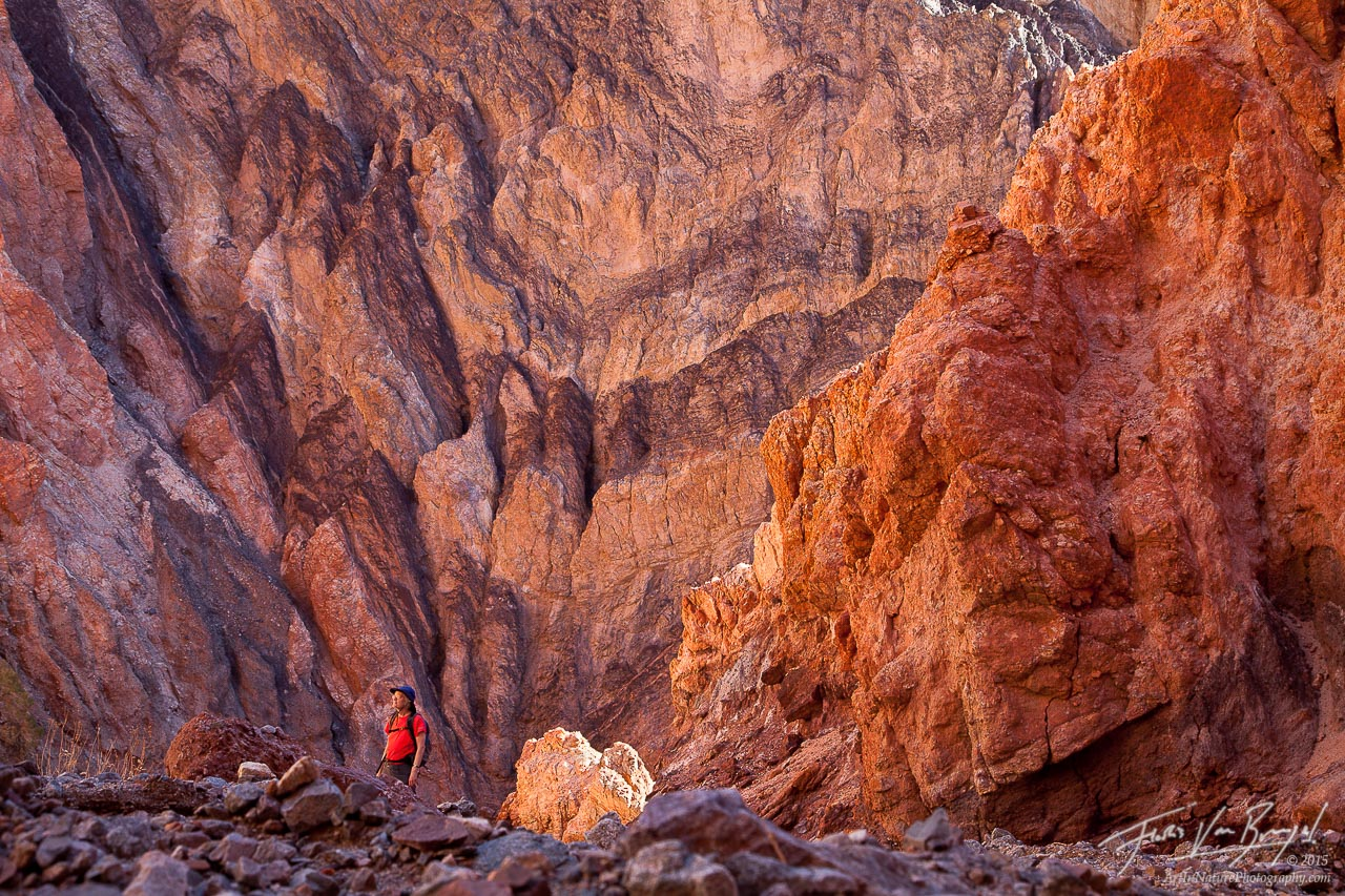 Canyon Hiker, Death Valley National Park, Colorful, photo