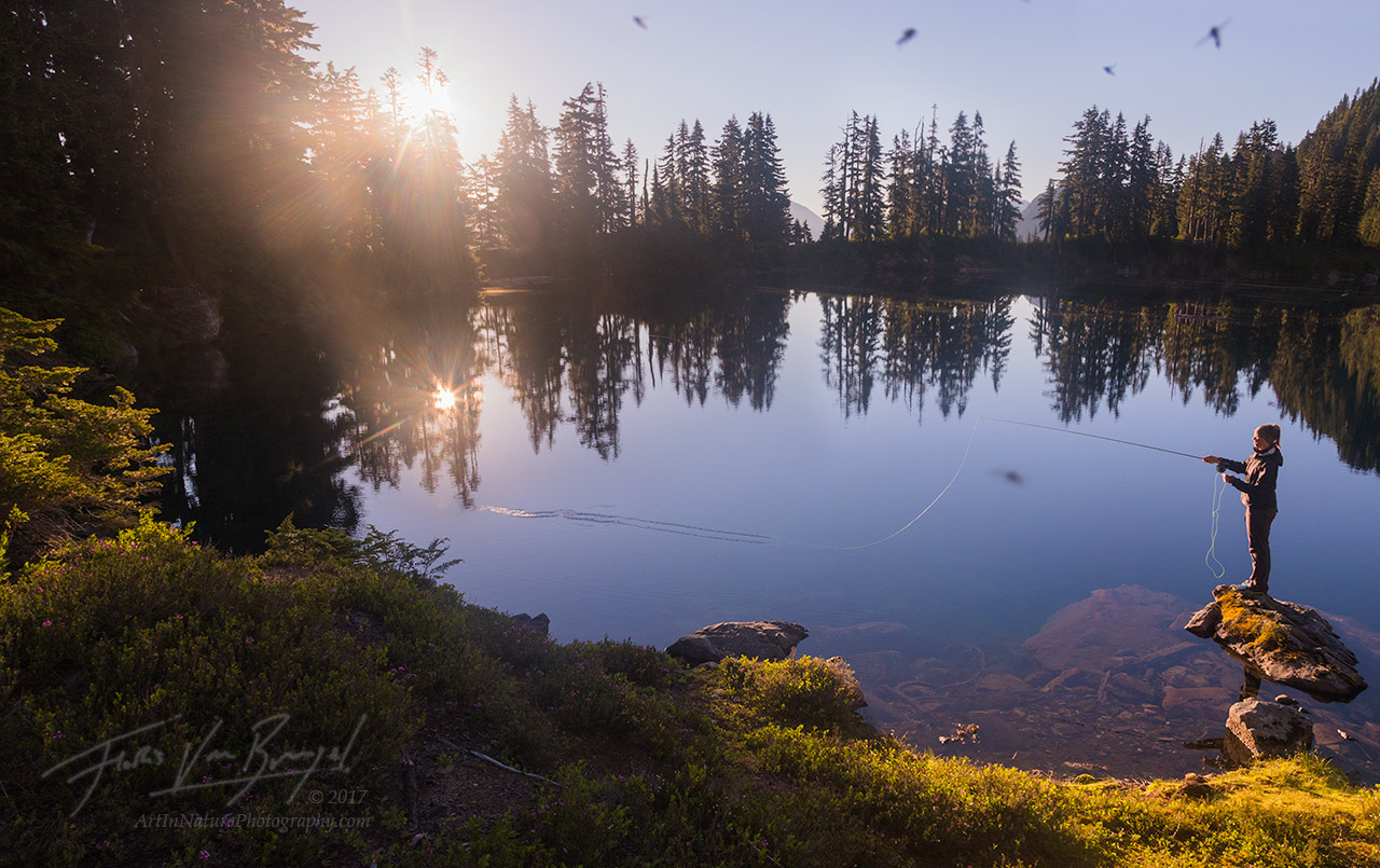 Fly Fishing, Cascades, Alpine Lake, photo