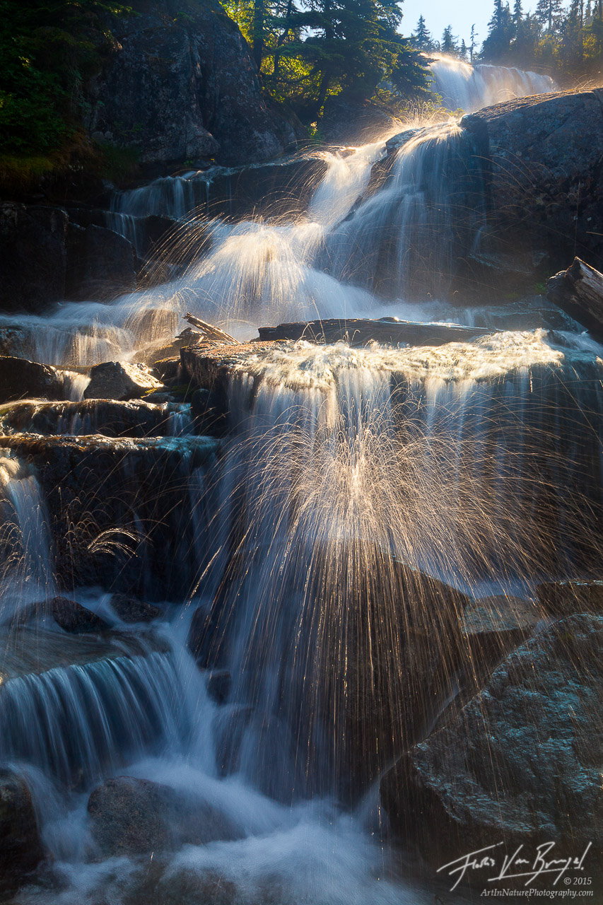 Cascades Waterfall, Alpine Lakes Wilderness, Washington, photo
