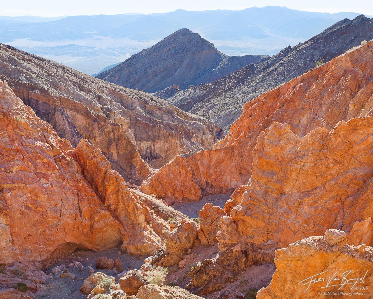 Brilliant Colors, Canyon, Death Valley National Park, photo