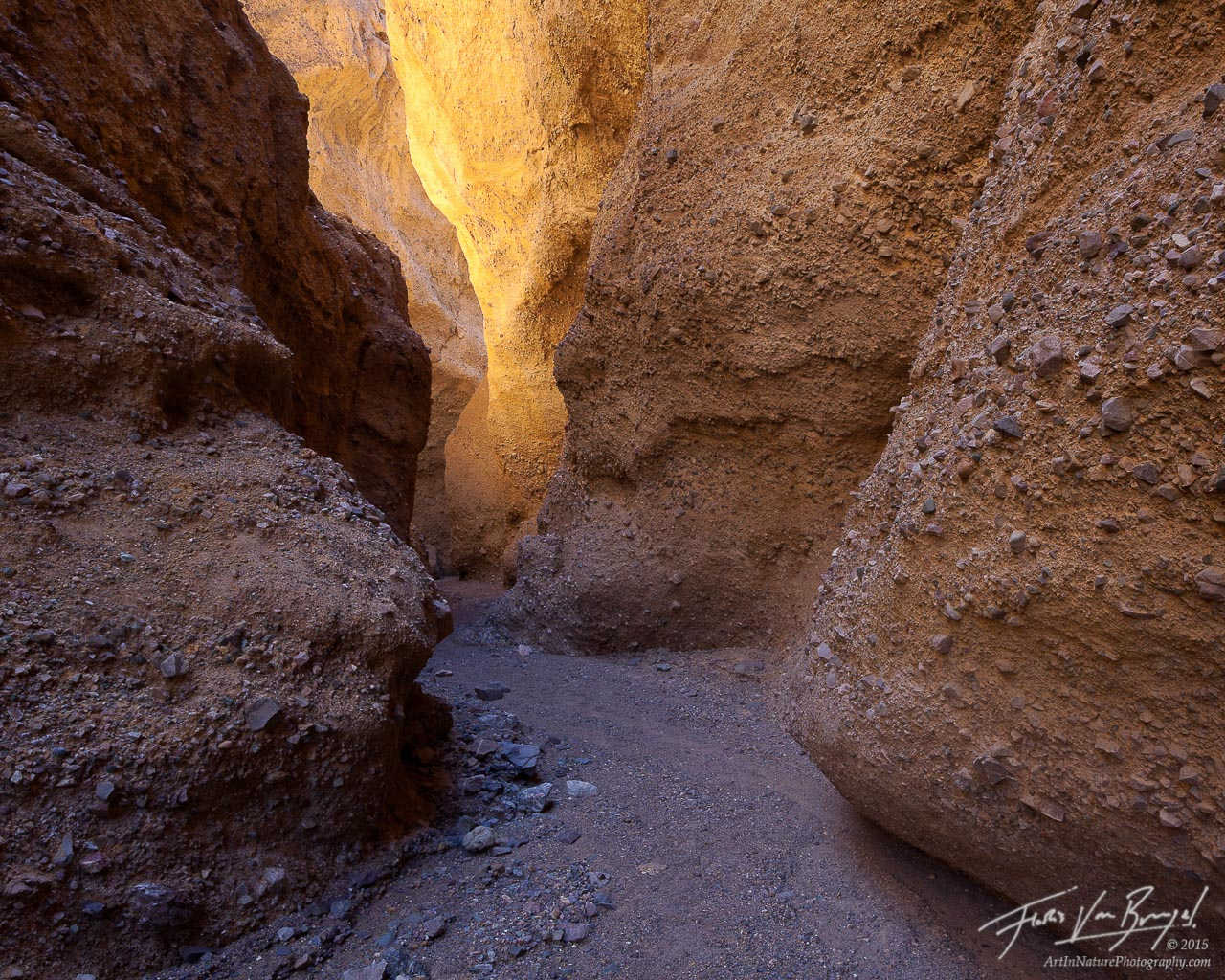 Mud Slot Canyon, Death Valley National Park, California, photo