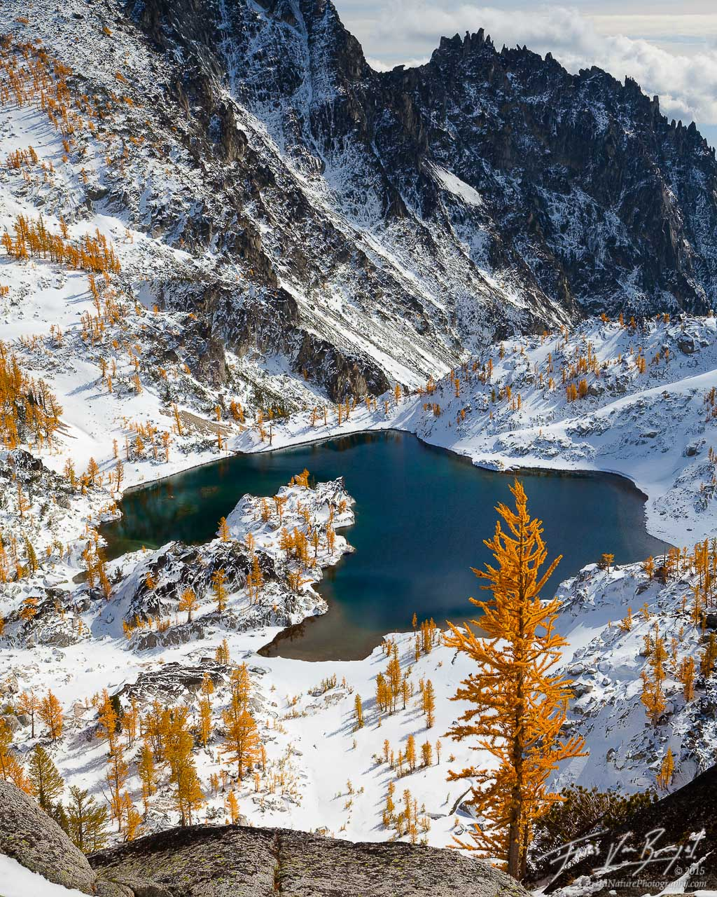 Enchantments, Fall Larches and Snow, Cascades, Washington , photo