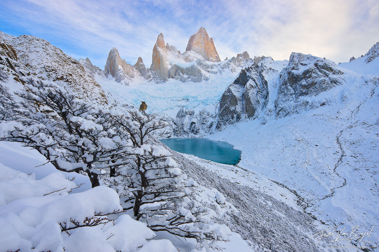 Snowy Fitz Roy, Patagonia, El Chalten, photo