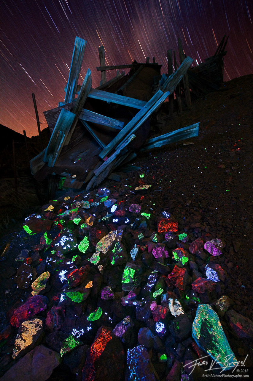 Fluorescent Minerals, Darwin Mines, California, fluorescent treasures, scheelite, fluorite, , photo