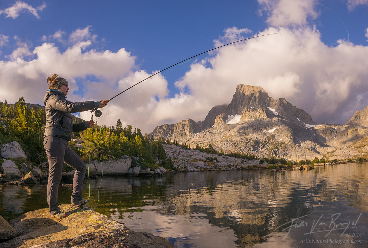 Fly Fishing, Thousand Island Lake, Sierra Nevada, photo