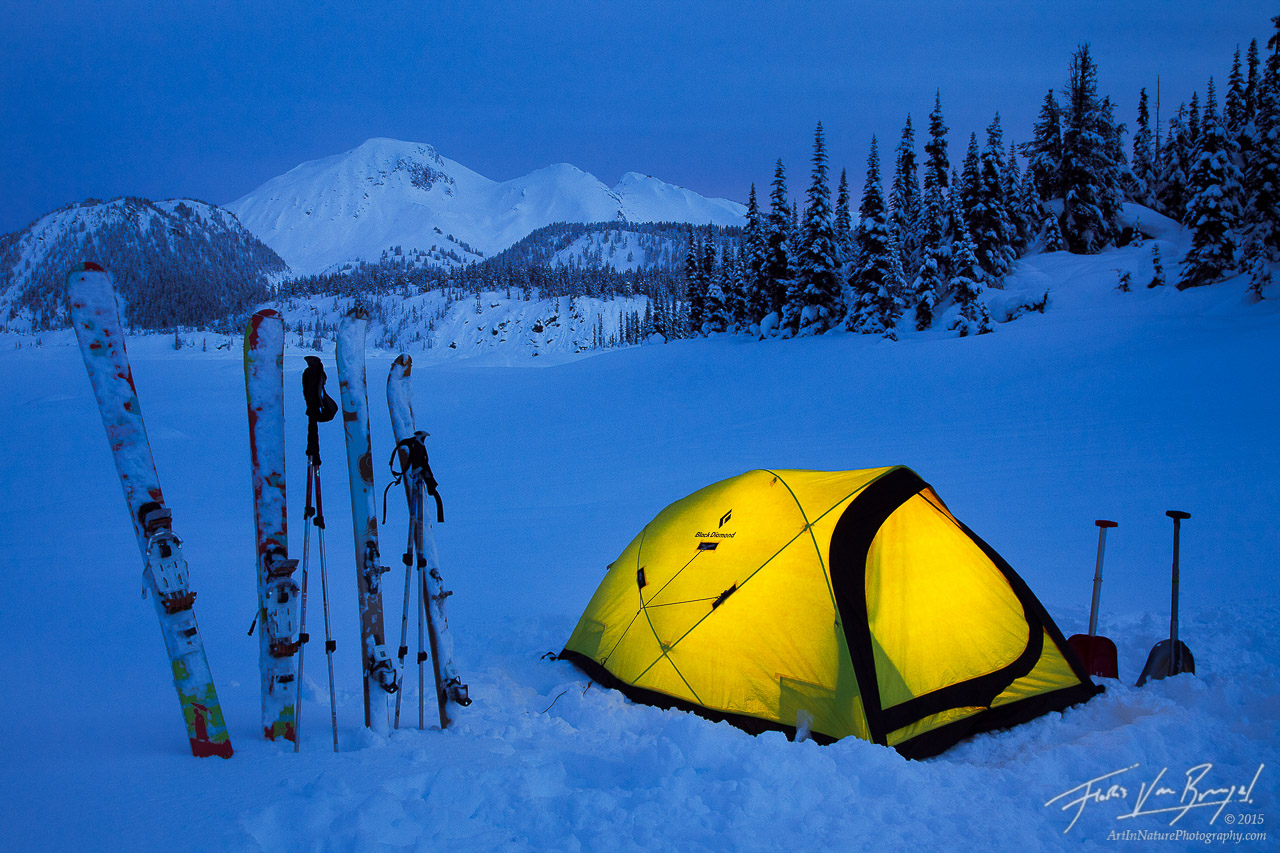 Garibaldi Lake Winter Camping, British Columbia, Canada, photo