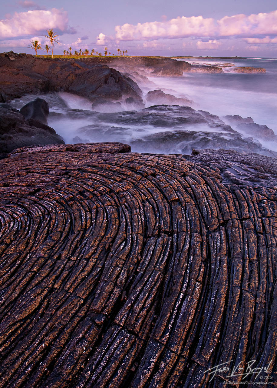 Pahoehoe Lava, Volcanoes National Park Coast, Hawaii, photo