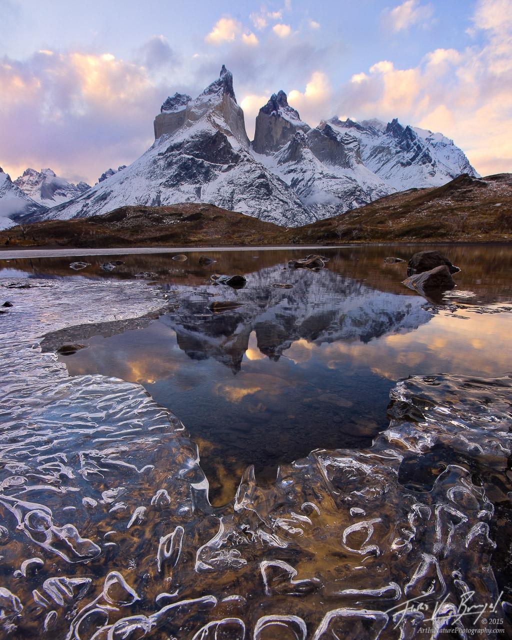 Icy Cuernos del Paine, Torres del Paine, Chile , photo