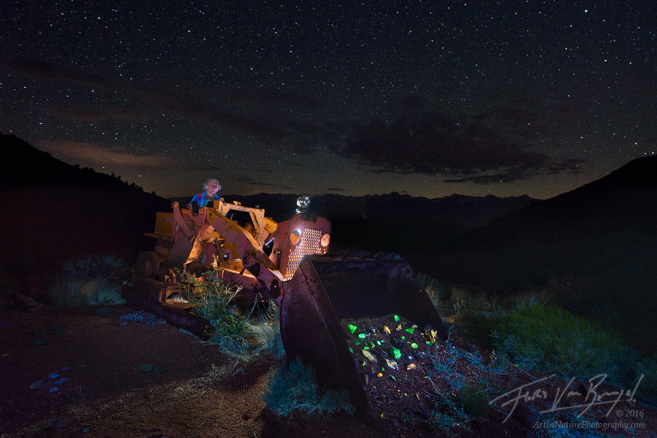 Mine, Fluorescent Rocks, Inyo Mountains, photo