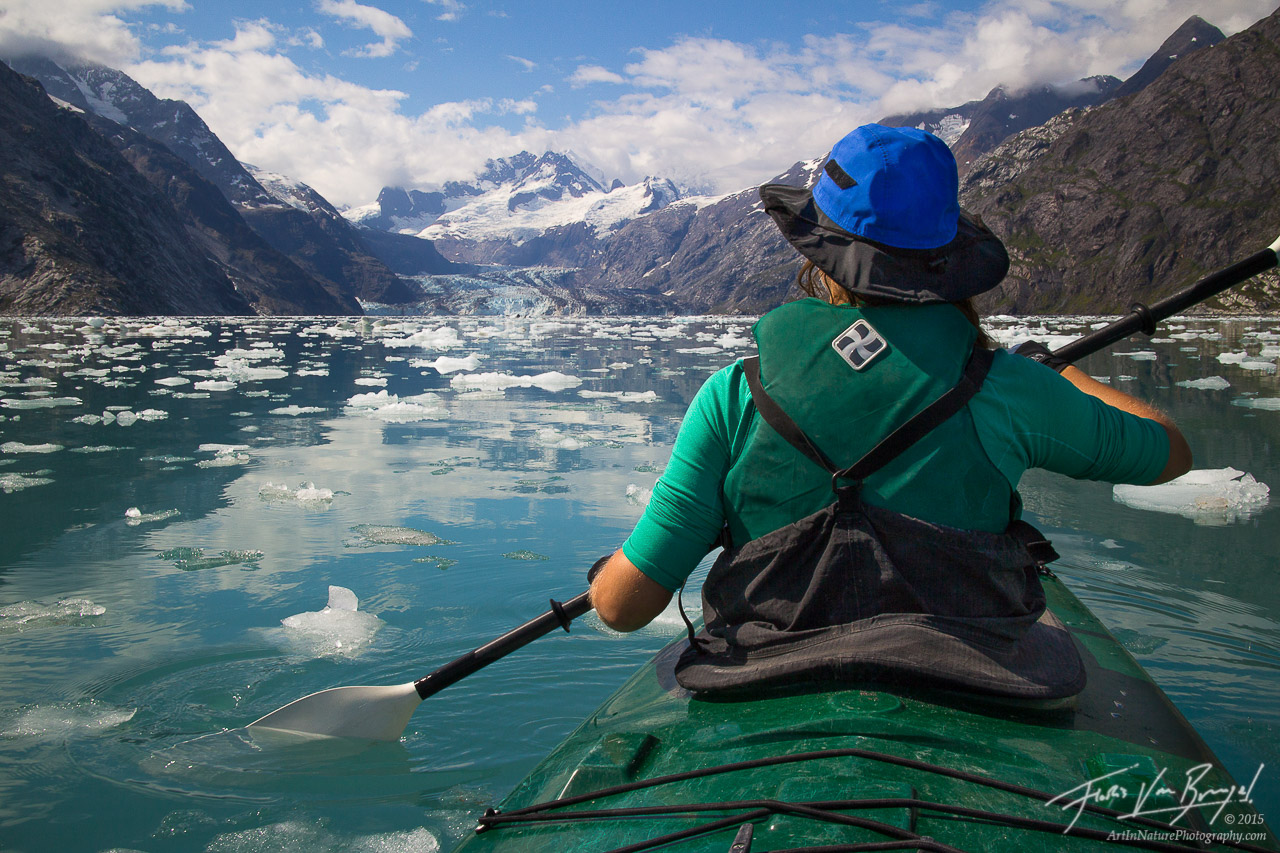 Kayaking Johns Hopkins Inlet, Glacier Bay National Park, Alaska, photo