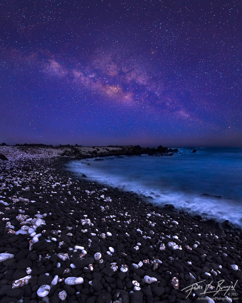 Milky Way, Maui, Hawaii, beach, photo