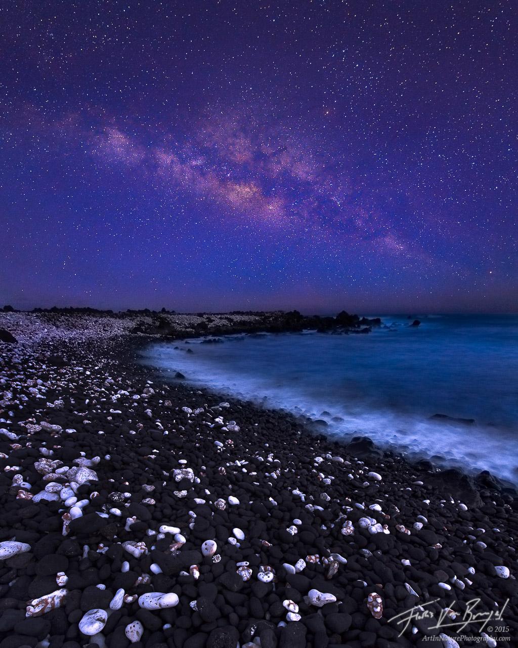 Milky Way, Maui, Hawaii, beach, photo