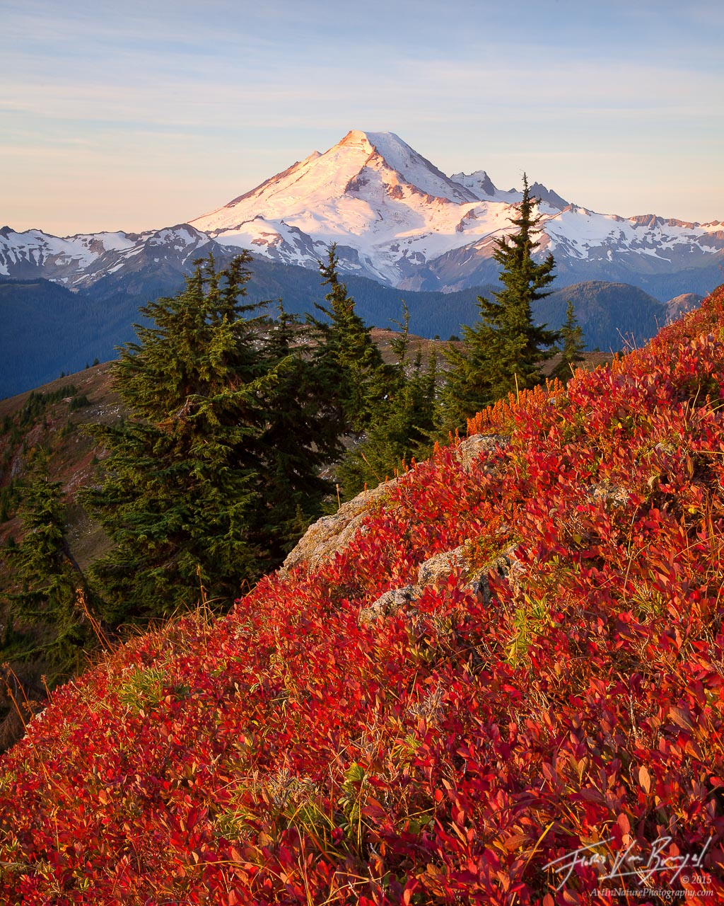 Autumn Mount Baker, North Cascades, Washington, photo