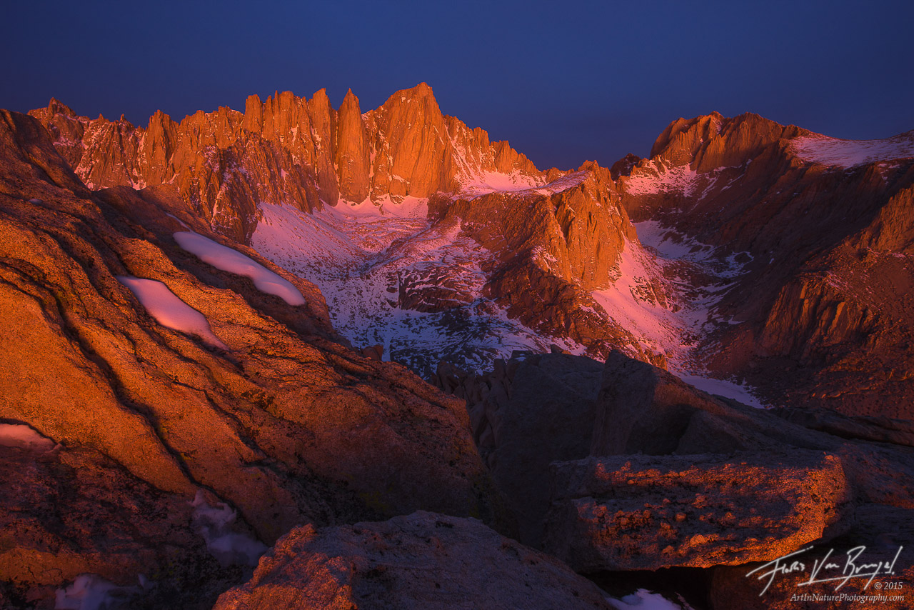 Mt Whitney, Alpenglow, Sierra Nevada, photo