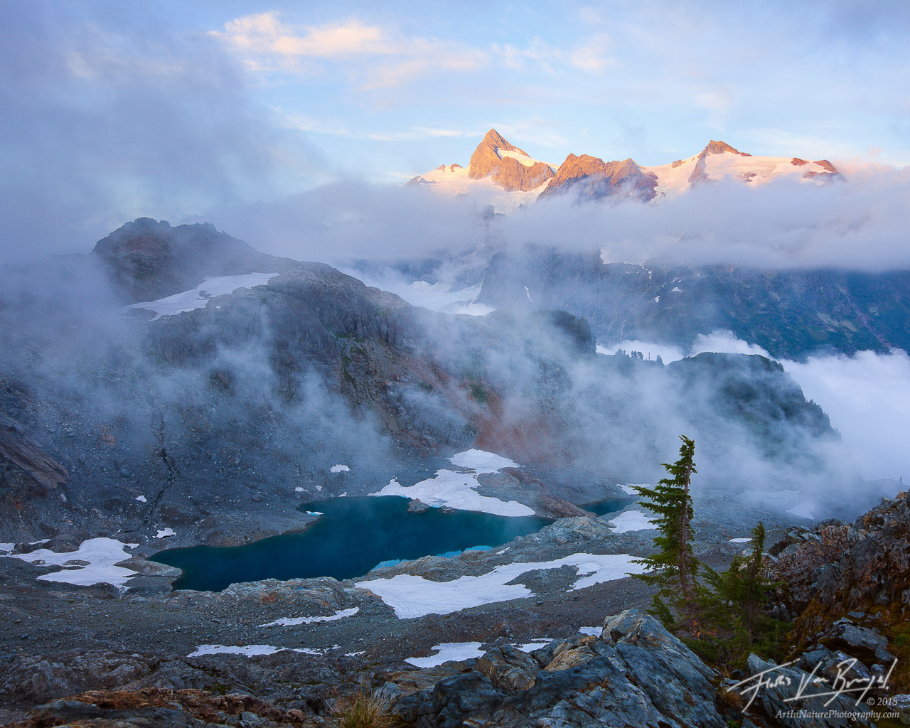 Mt Shuksan, North Cascades, Swirling Mists, photo