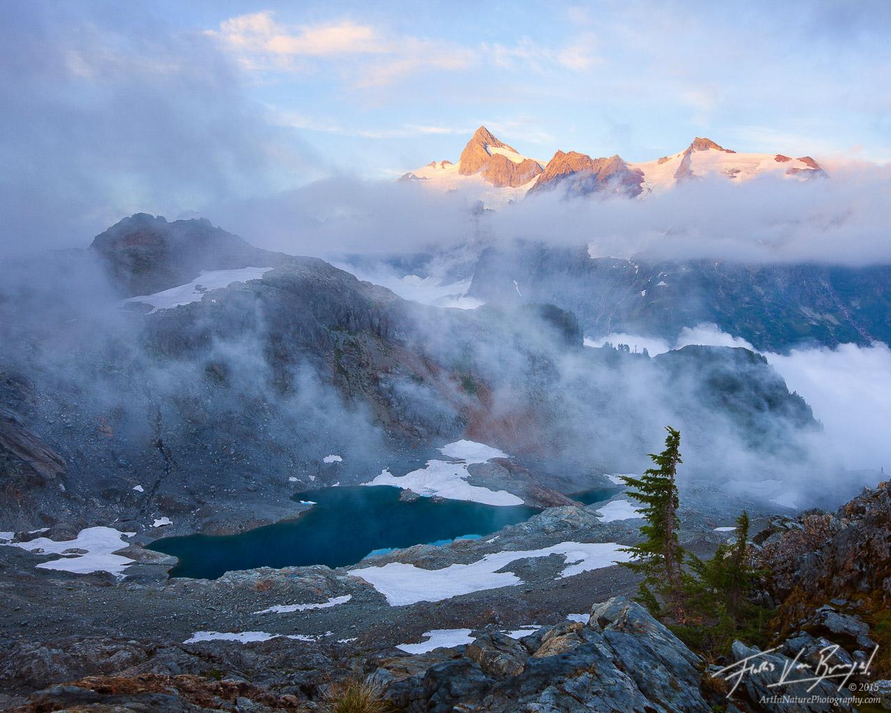 Mt Shuksan, North Cascades, Swirling Mists, photo