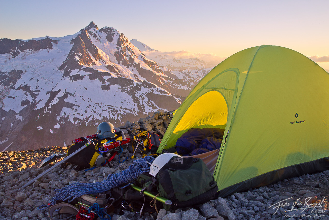 Camping in the North Cascades, Mt Ruth, Mt Shuksan, photo