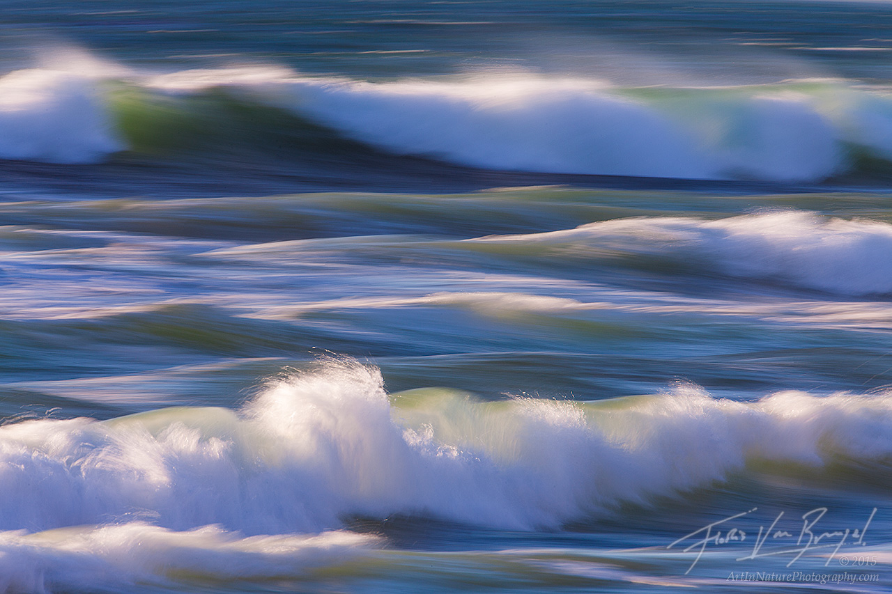 Impressionistic Ocean Waves, Jalama Beach, California , photo