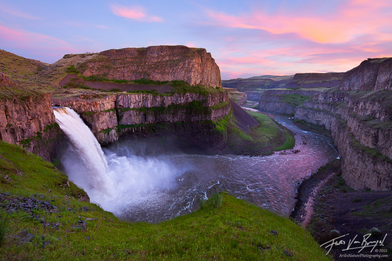 Palouse Falls Sunset, Washington, sunset, scablands, snake river, photo