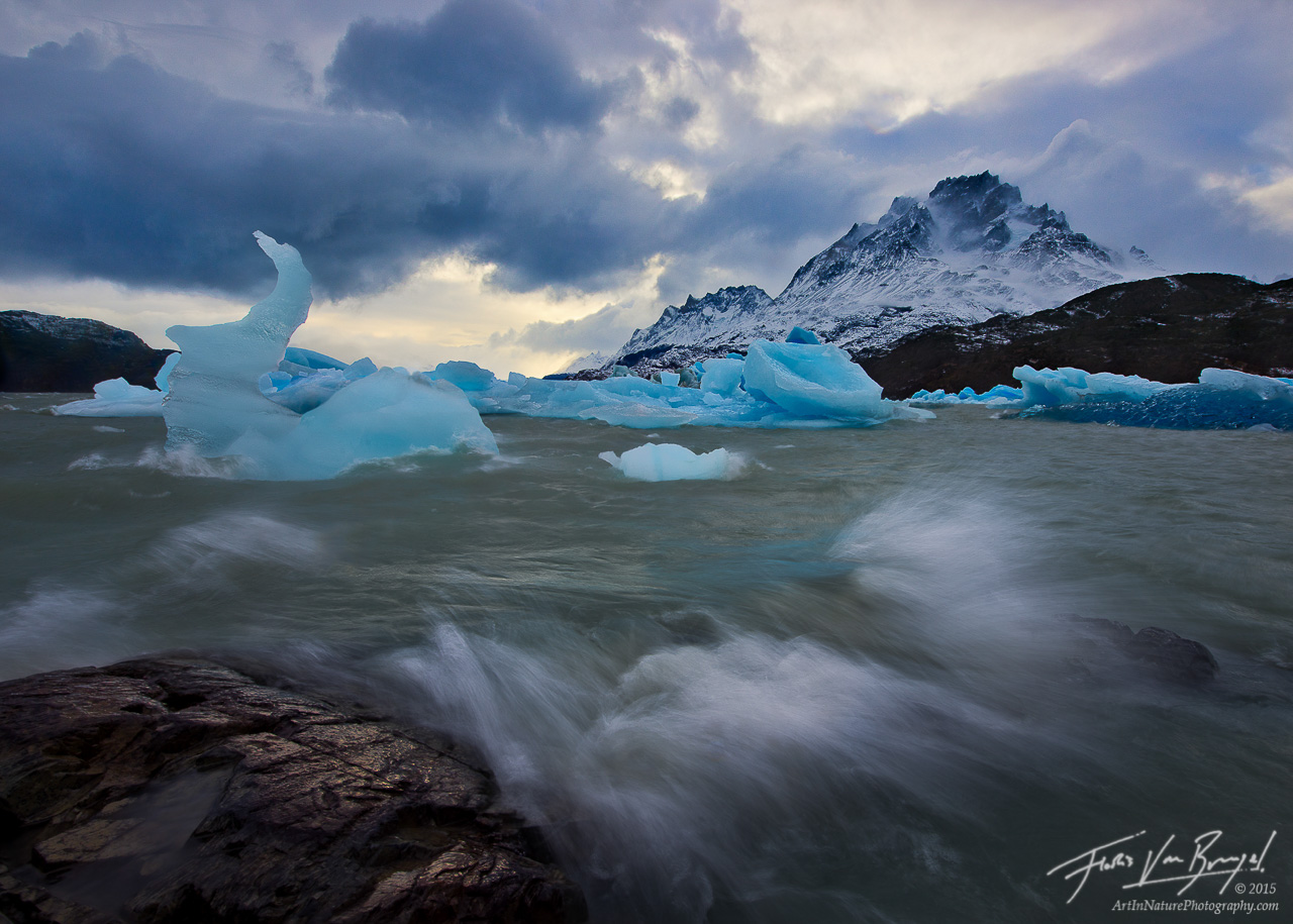 Patagonia Wind Storm, Icebergs, Torres del Paine, photo