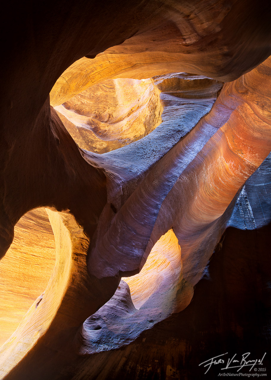 Pine Creek Canyon in Zion National Park, Slot Canyons, Southwest, photo