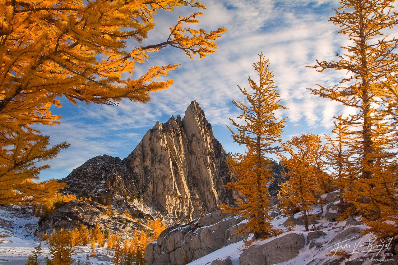Prusik Peak, Fall Larches and Winter Snow, Enchantments, photo