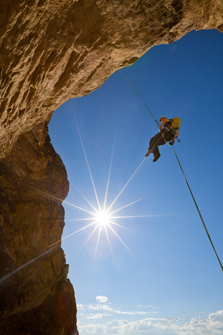 Rappelling, Smith Rock, Oregon, photo